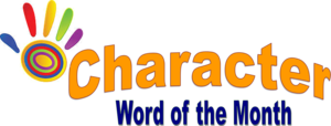 Character Word of the Month logo/graphic