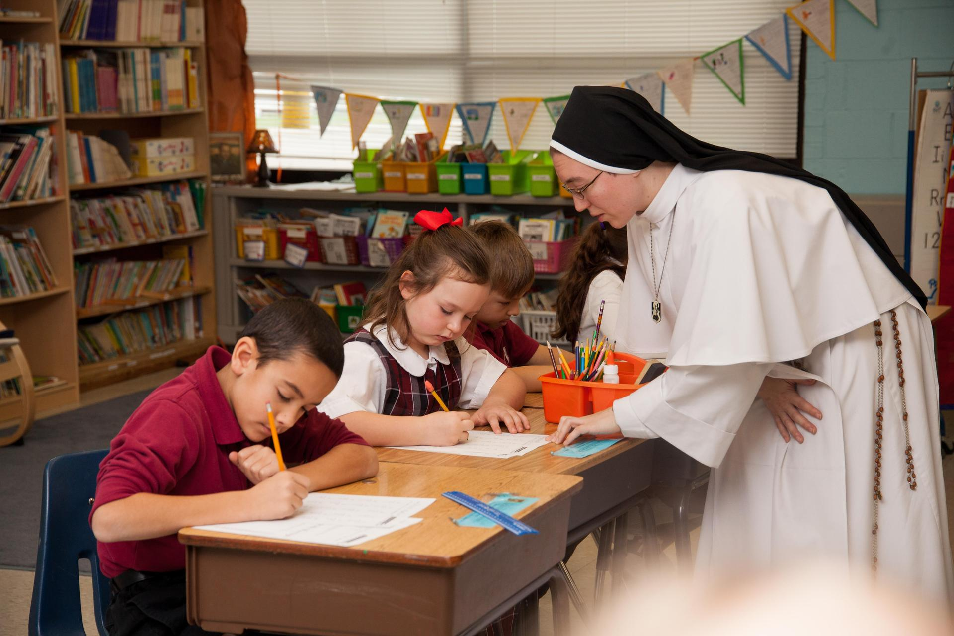 Sister helps students