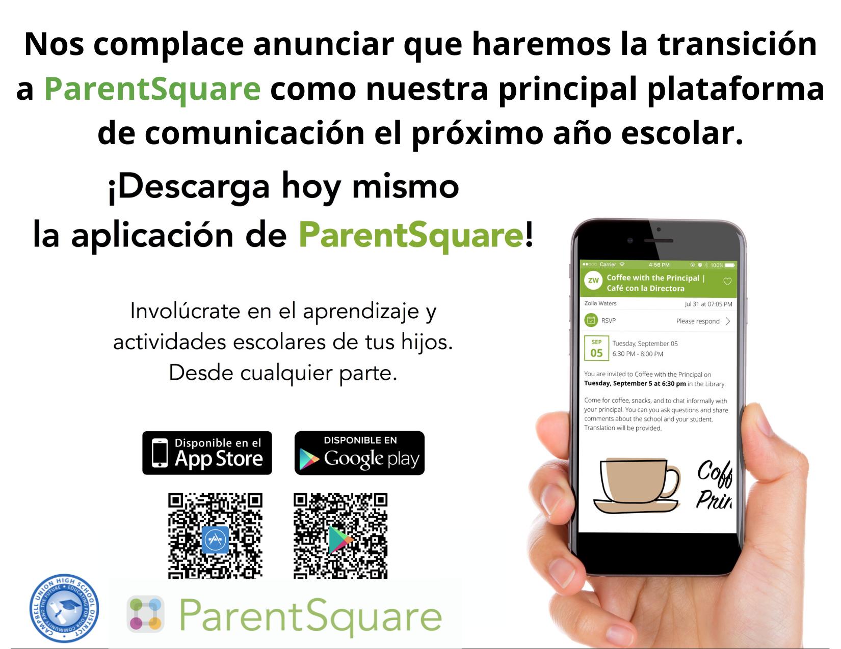 parentsquare flyer in spanish