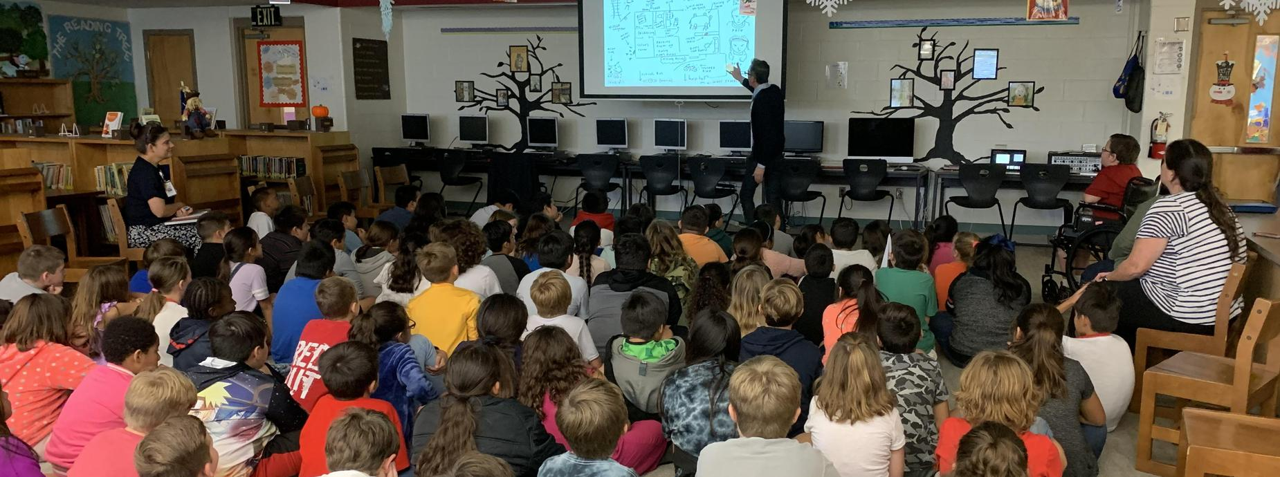 Newbery Award Winning Jack Gantos came to talk to 4th Graders about the writing process!