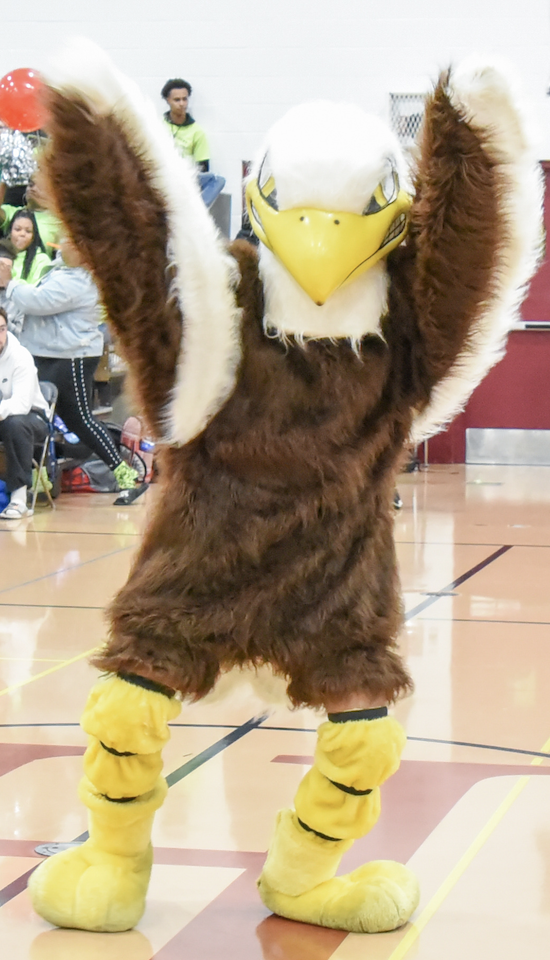 Silver Eagle at Pep Rally