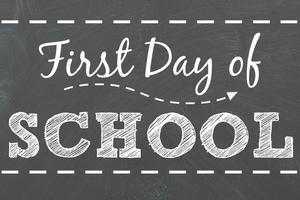 First day of school graphic