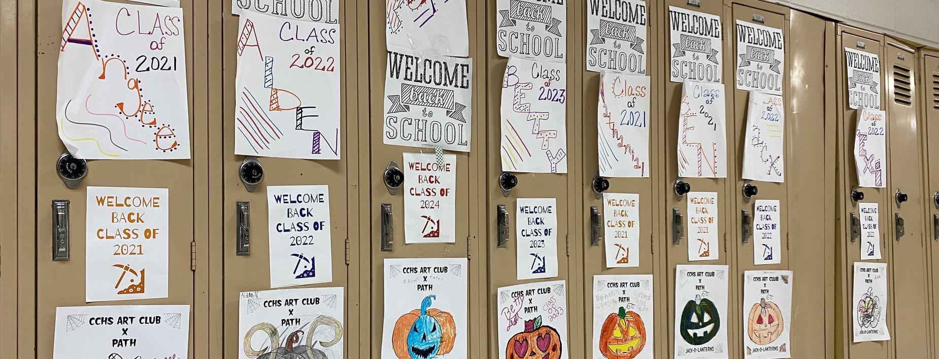 Locker decorating at the high school