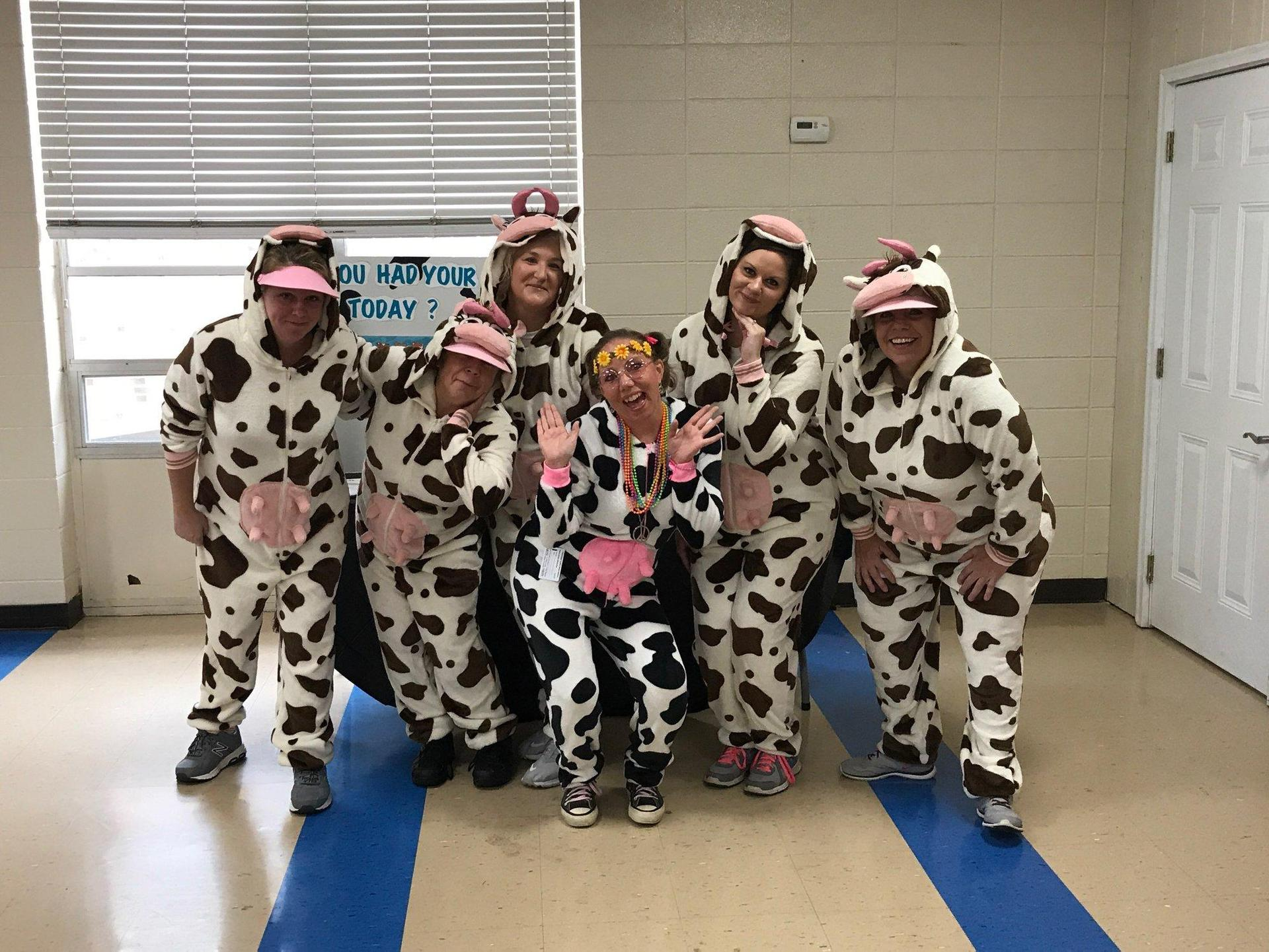 HAVING FUN AT WORLD SCHOOL MILK DAY!
