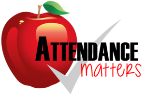 Attendance matters -- apple and check mark