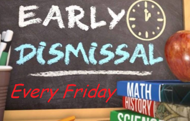 REMINDER:  Every Friday is Early Dismissal Featured Photo