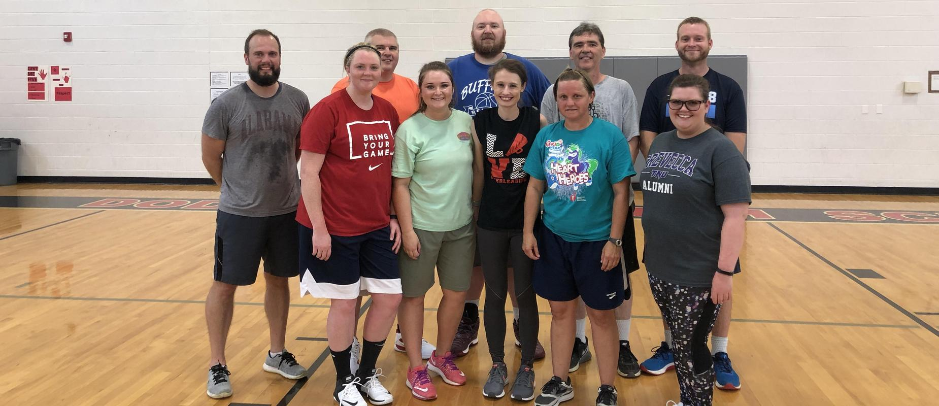 group of teachers that played in 8th grade vs Teachers  basketball game