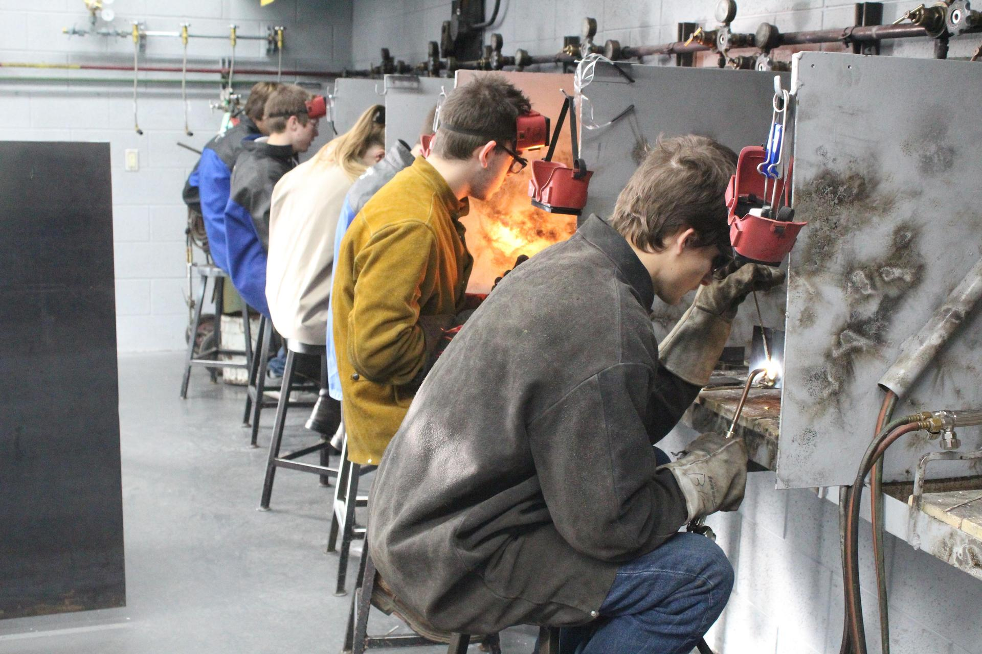 Students Welding