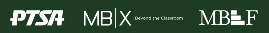 PTSA, MBEF, and MBX Logos