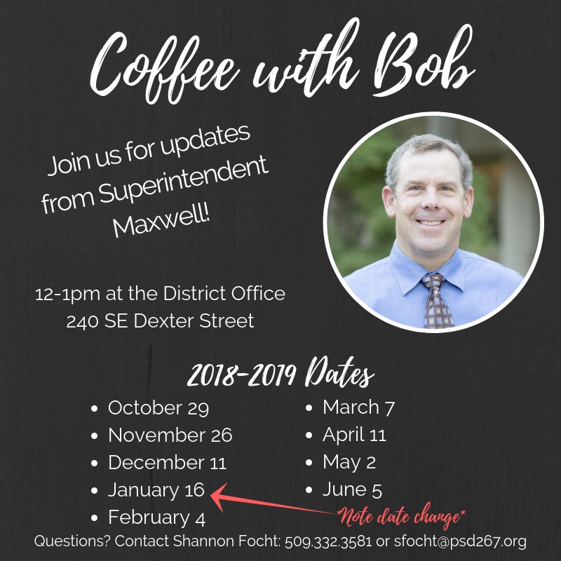 Coffee with Bob - Updates from Superintendent Maxwell Thumbnail Image