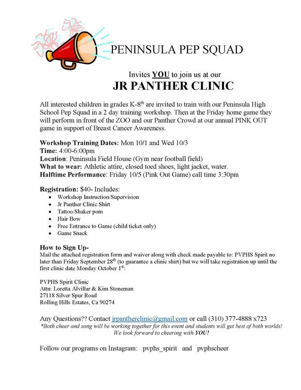 Jr Panther Clinic pg 1