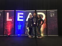 WVASC officers at LEAD conference in Chicago From left to right: Caitlyn Wendling of BUHS, Ro Jones of EFMS, Lexi Muller of PHS