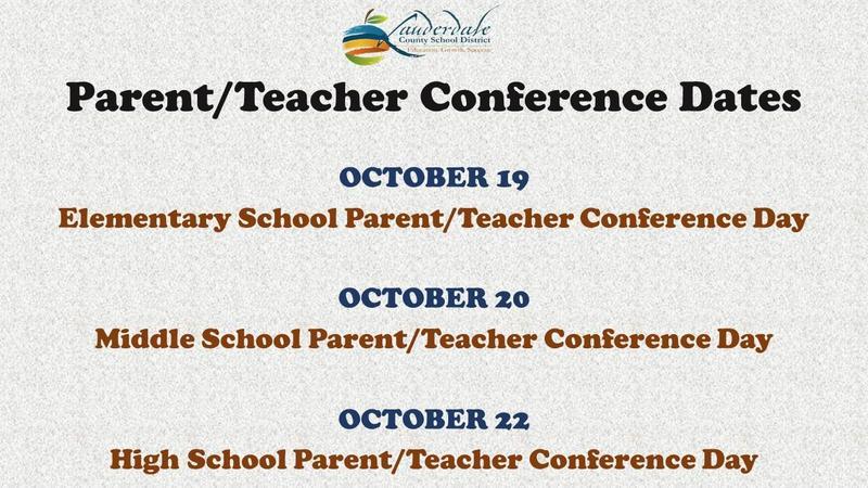 Parent/Teacher Conference Dates
