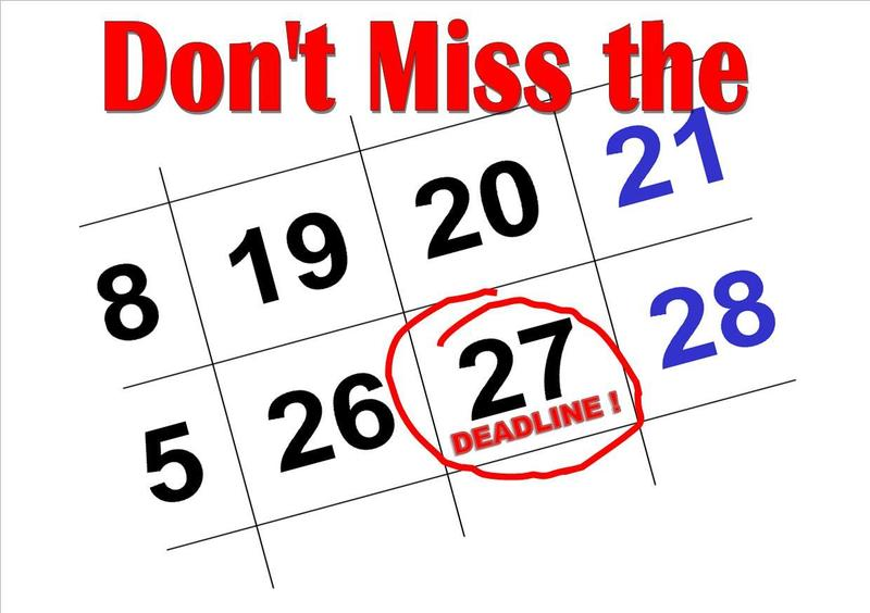 deadline on 27th