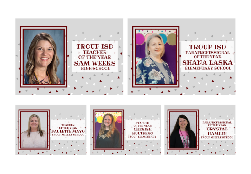 Troup ISD Teachers & Paraprofessional of the Year Featured Photo