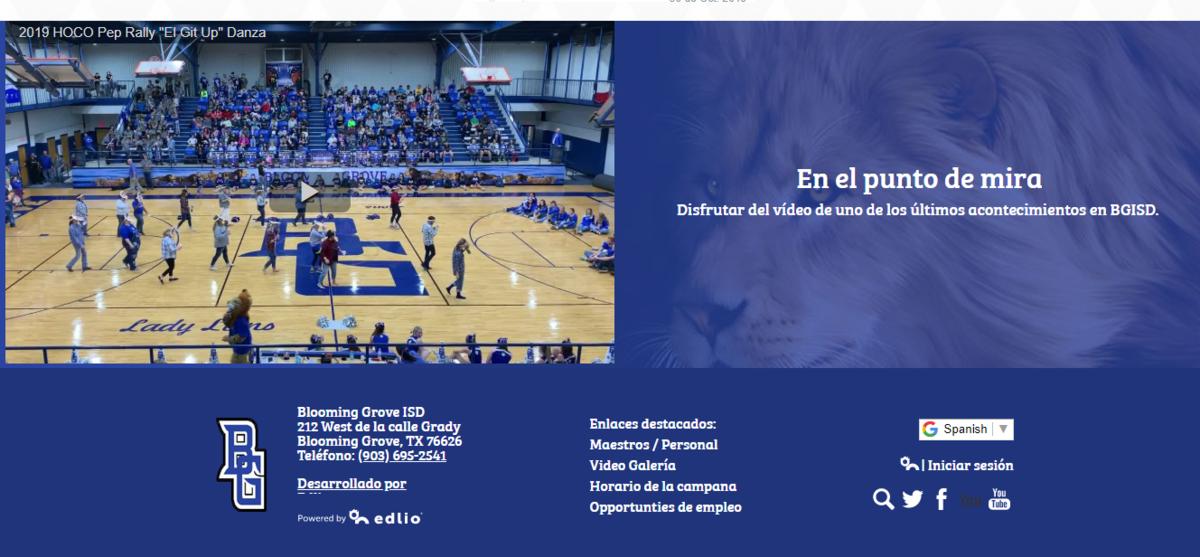 Website translated to Spanish