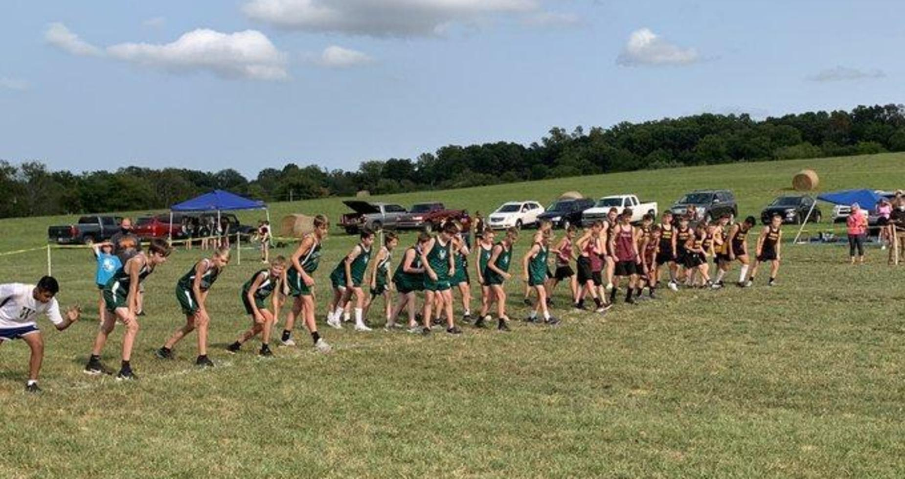 Cross country starting line