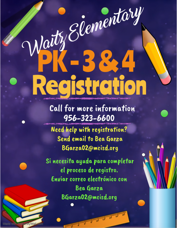 PK 3/4 Registration