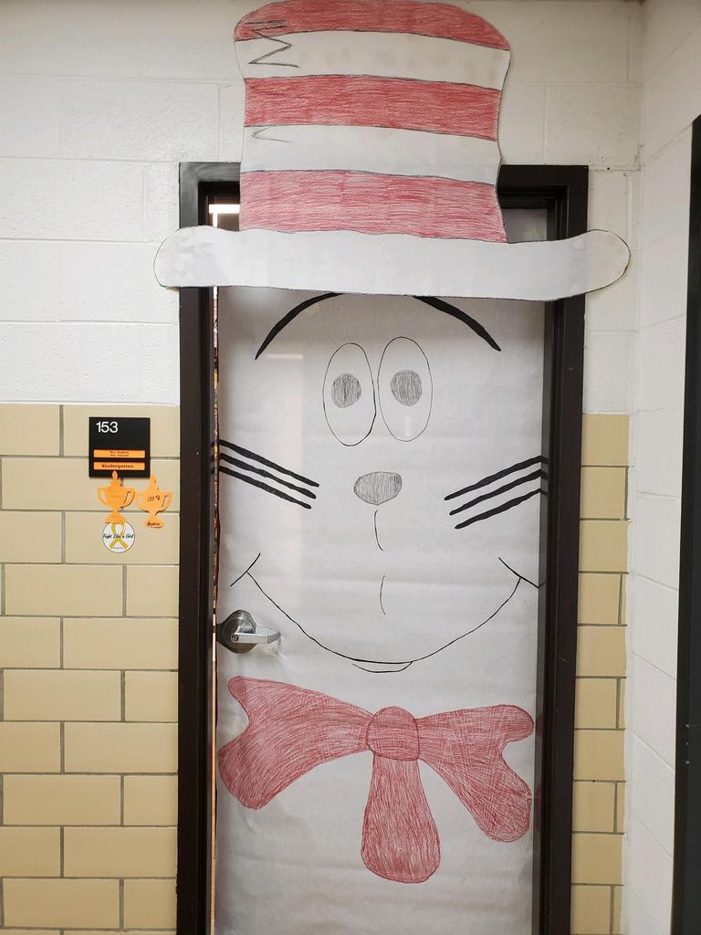 """""""Cat in the Hat"""" door decoration"""