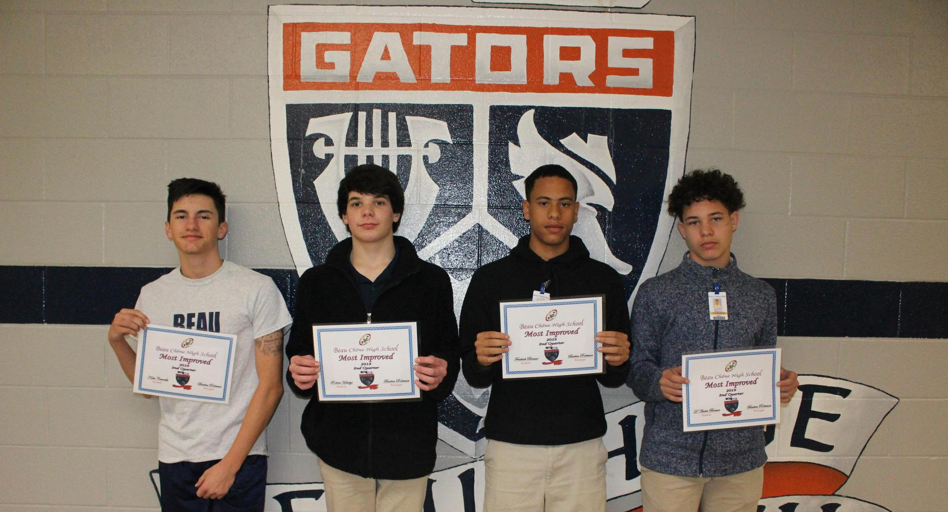 PBIS - Most Improved - 2nd Nine Weeks - Kade C., Robert H., Frederick B. and D'Andre Breaux