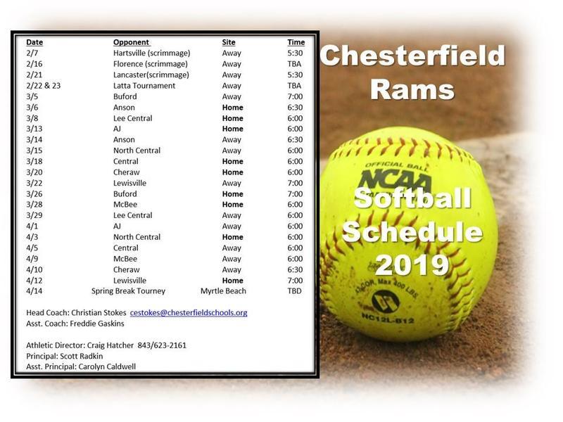 2019 Softball Schedule Featured Photo