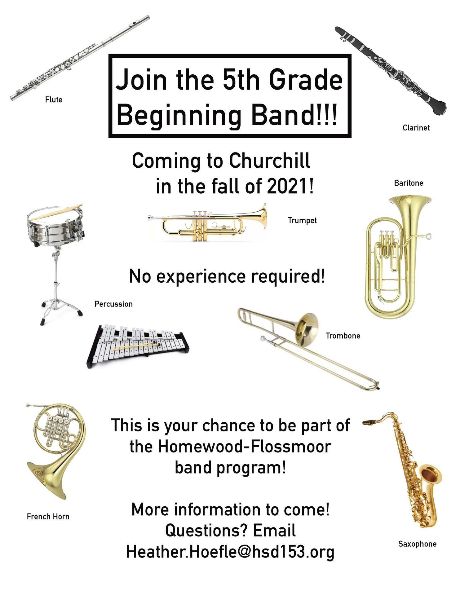 5th grade beginning band