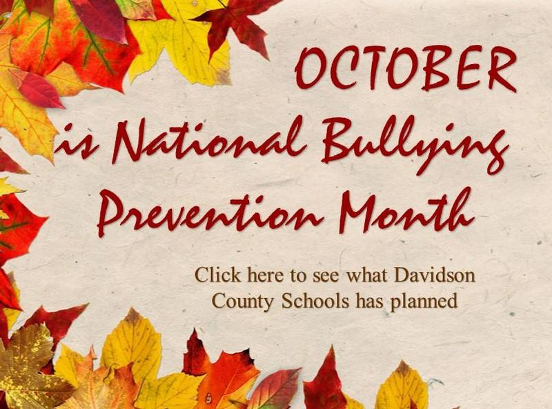 October is National Bullying Prevention Month