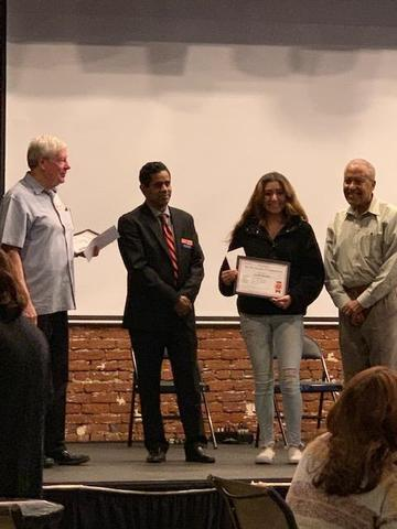 Hemet High Art Student at Youth Art Competition