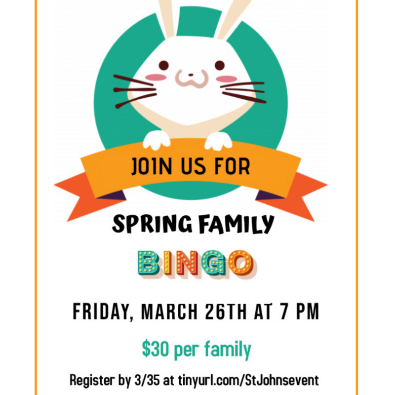 Virtual Spring Family Bingo Night Thumbnail Image