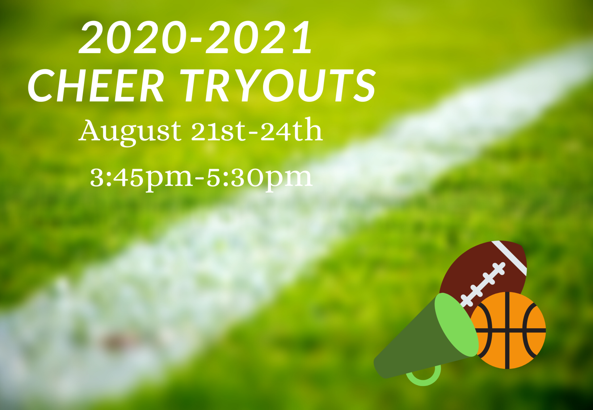 cheer tryouts august 2020