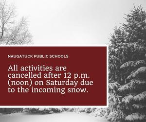 activities canceled Saturday