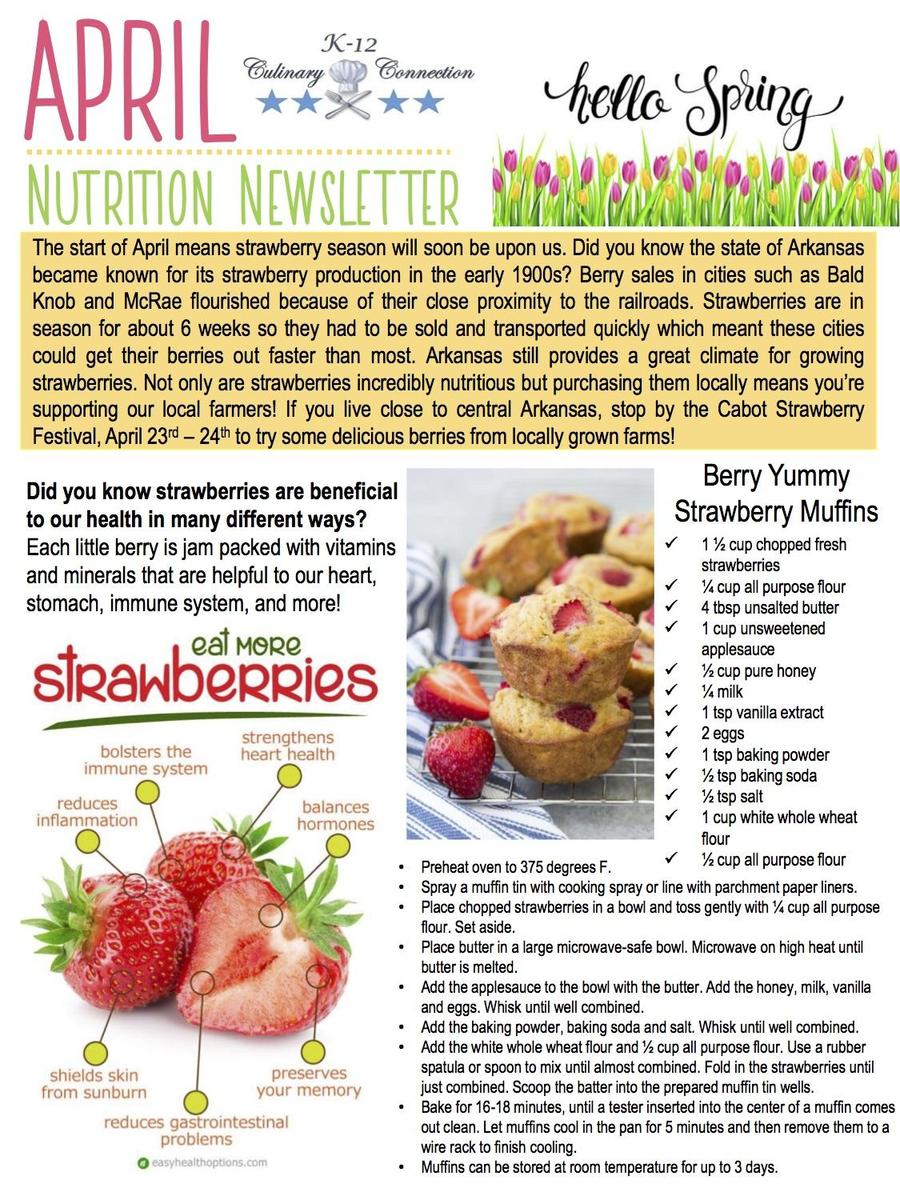 April Nutrition Newsletter