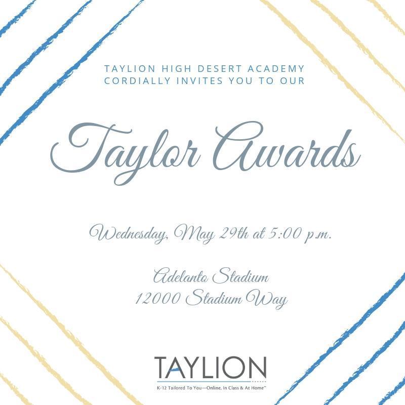 Taylor Awards Flyer