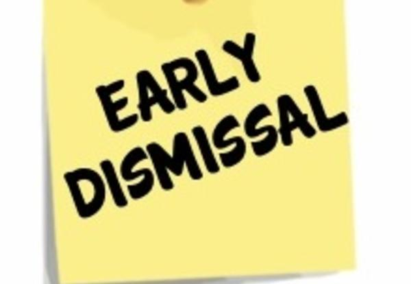 Early Dismissal Friday, March 8, 2019 at 2:00 PM Featured Photo