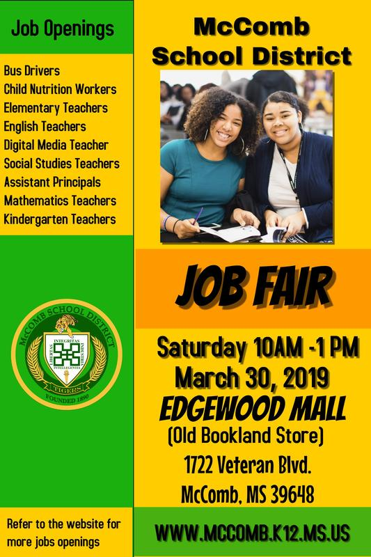 McComb School District Job Fair News 2019