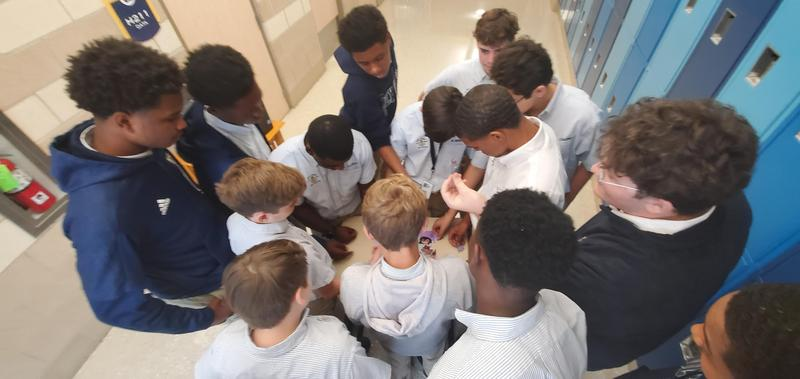 Students Begin Year with Team Building Activity Featured Photo