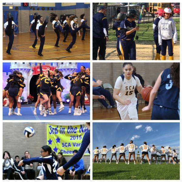 collage of girls sports at St. Catharine's