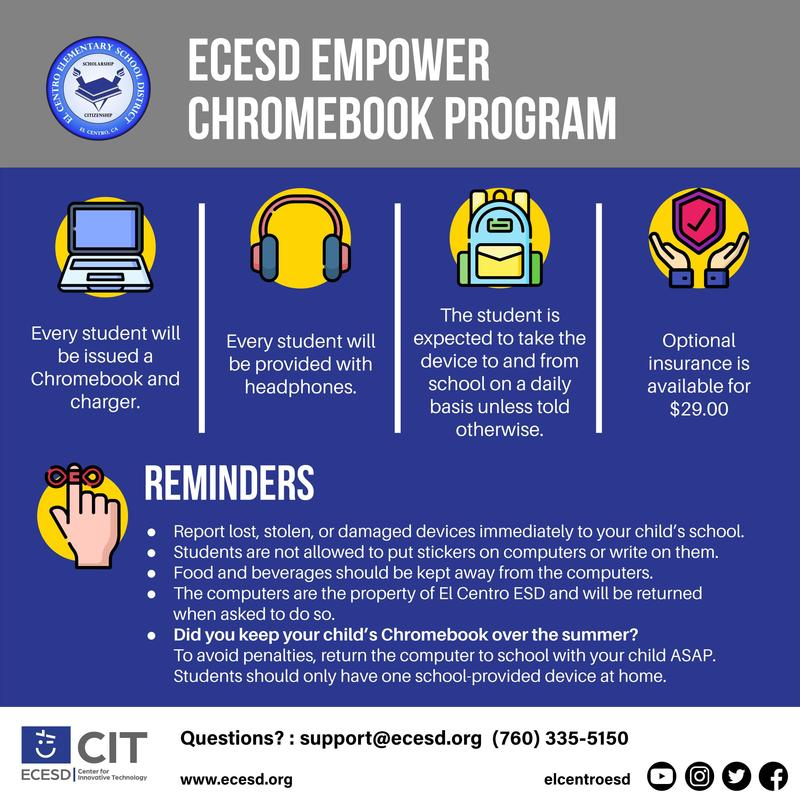 ECESD Empower Chromebook Program Featured Photo