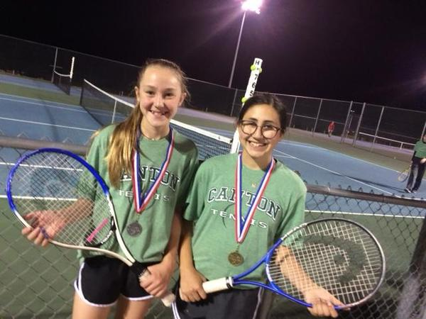 Morgan Dunn District Runner up and Bella Rameriz District Champion 7th Singles.jpg