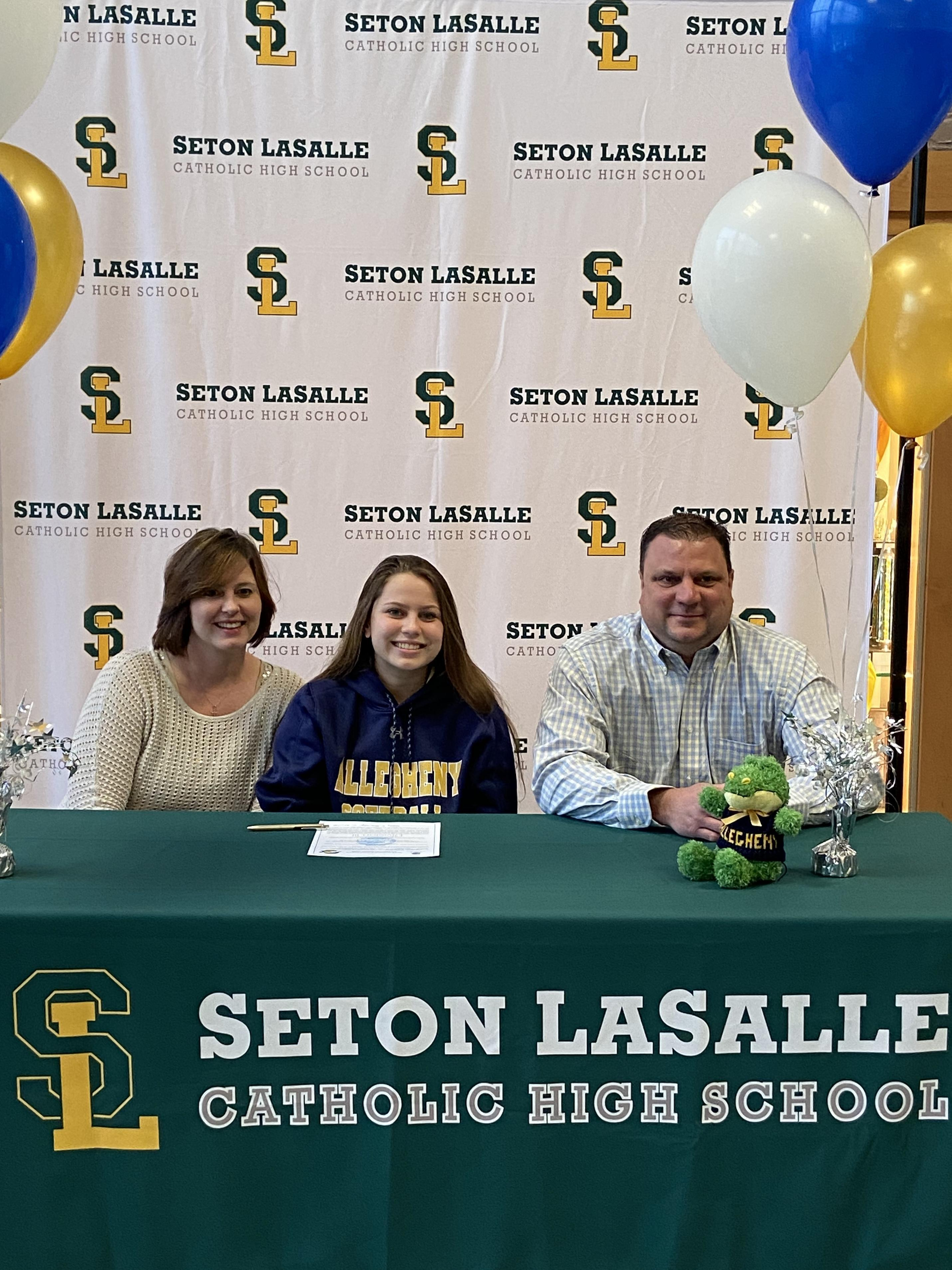 Class of 2020 senior signs her letter of intent to play collegiate softball at Allegheny College
