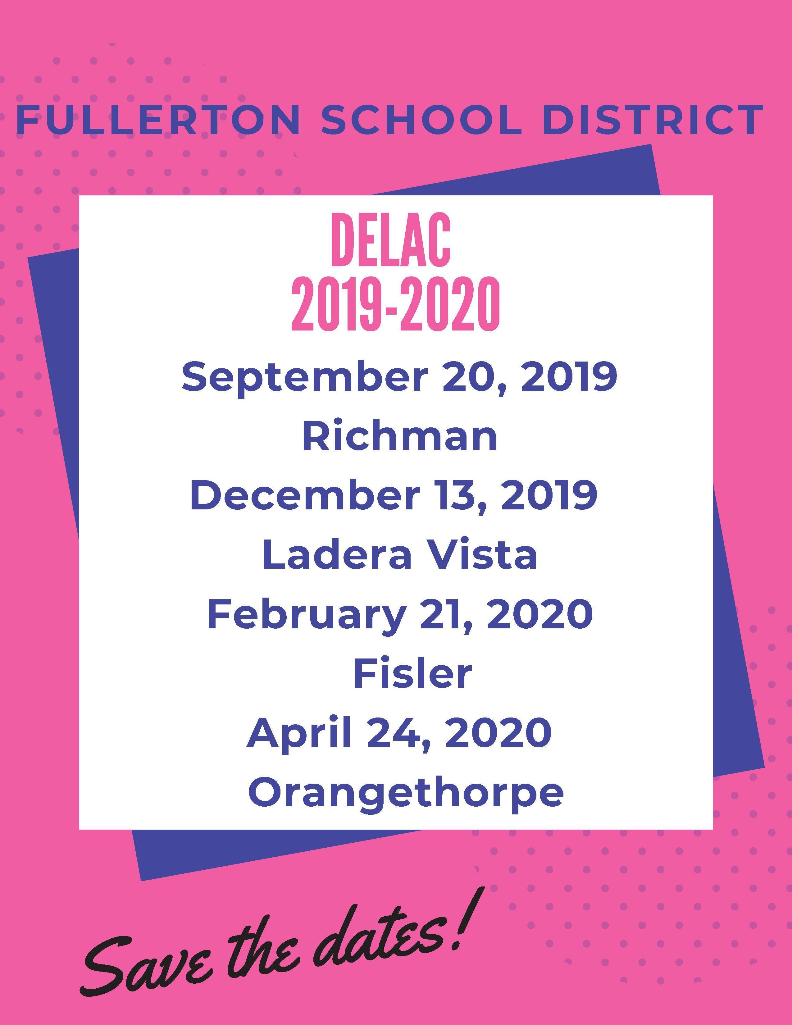 DELAC Dates 29-20 English Flyer