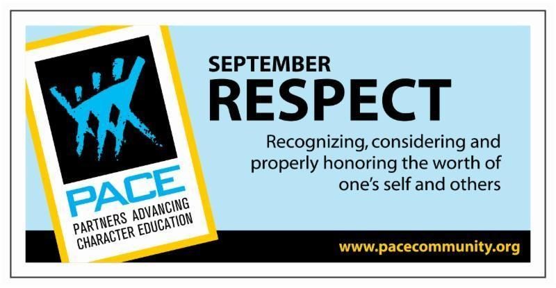 September PACE Character is Respect. Thumbnail Image
