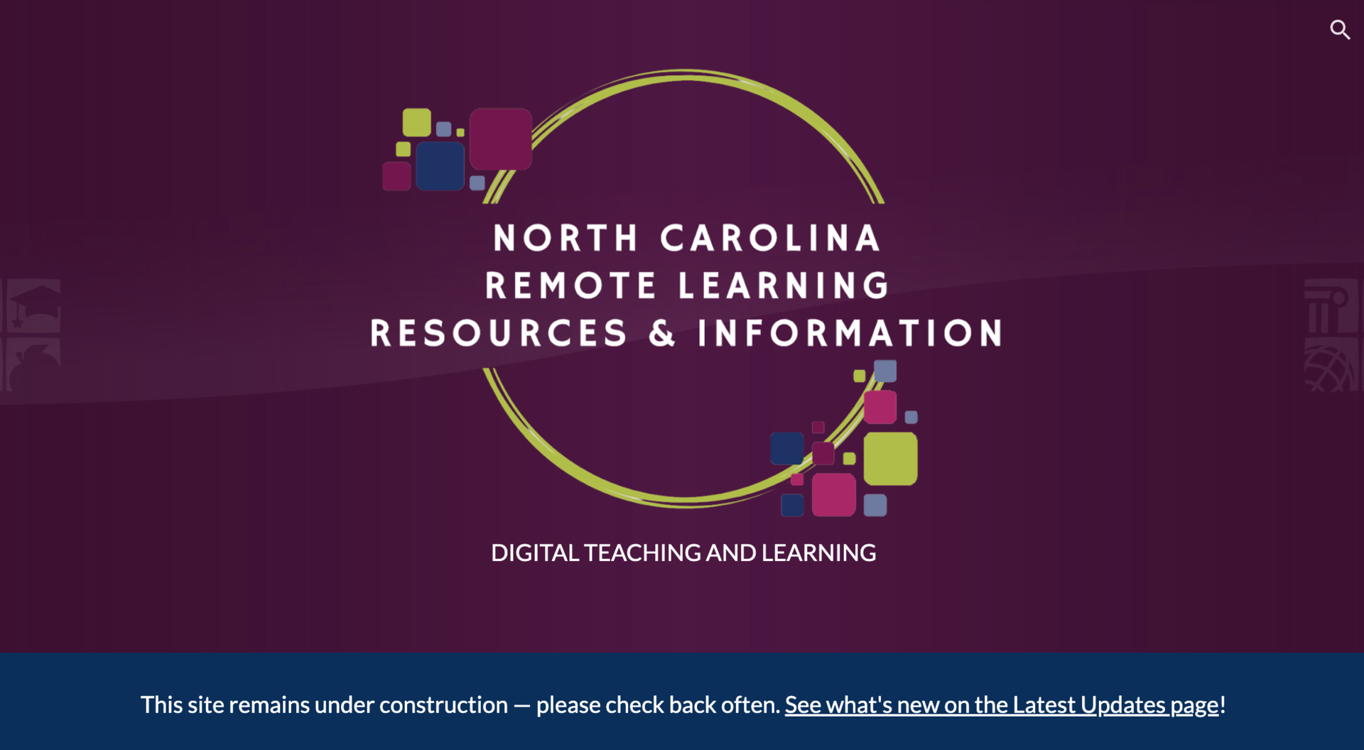 Image of NCDPI Remote Learning Resources Page