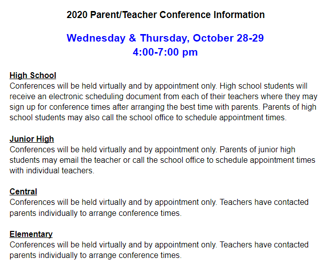 Parent teacher district information