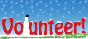 Winter volunteer banner