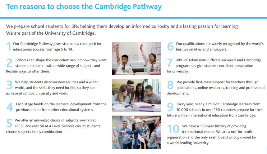 Top 10 reasons to choose Cambridge