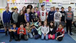 Fourth graders in Branice Moore's class at McKinley School were Soup-er Bowl champions, collecting 388 non-perishable food items while the entire school community collected 3,465 food items for a local food pantry.