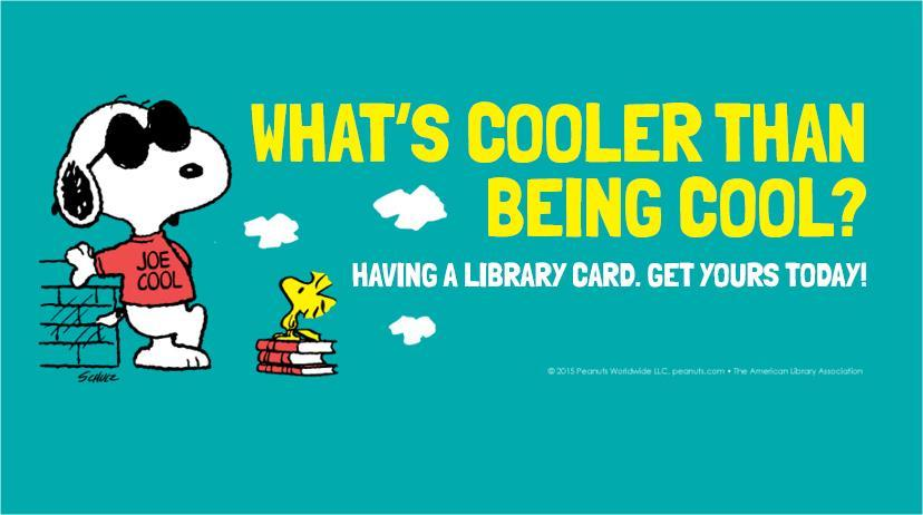 COOL SNOOPY LIBRARY CARD