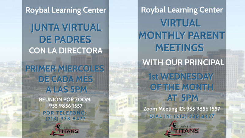Monthly Virtual Parent Meetings/ Reuniones de Padres Virtuales Thumbnail Image