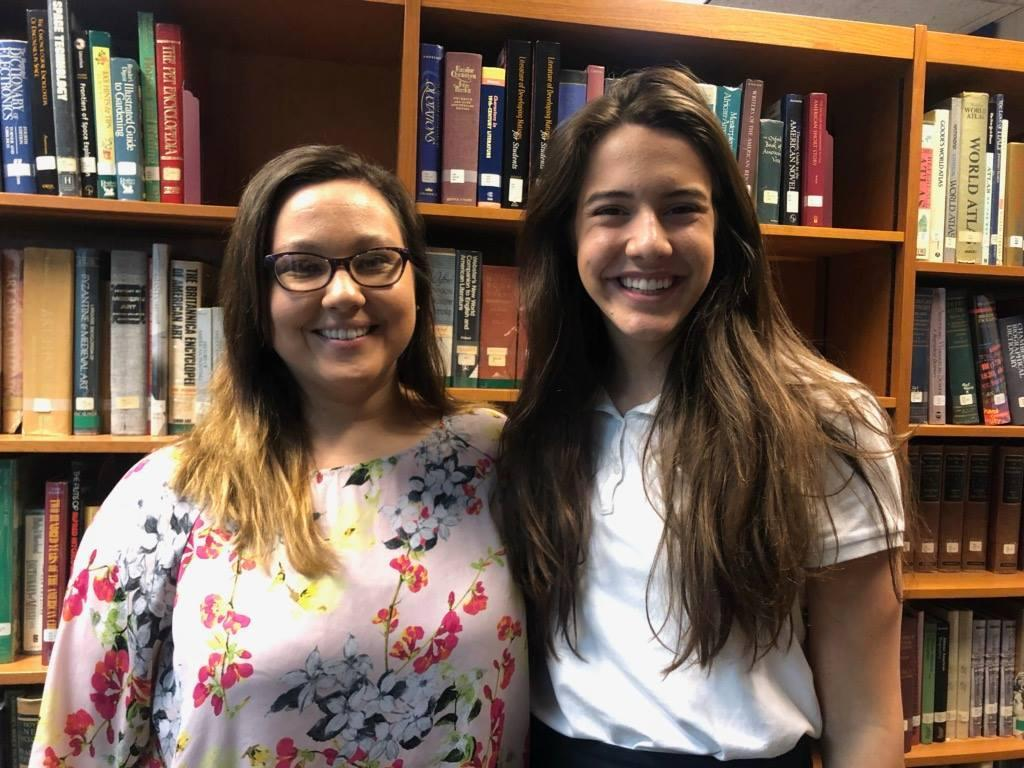 2019 Star Student Bailey Kozlowski and 2019 Star Teacher Brittany Garner